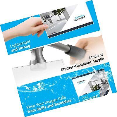 "Adir 639-8511-06 Plexi Acrylic 8.5"" X 11"" Single Slant Back Design Sign Holde... 4"