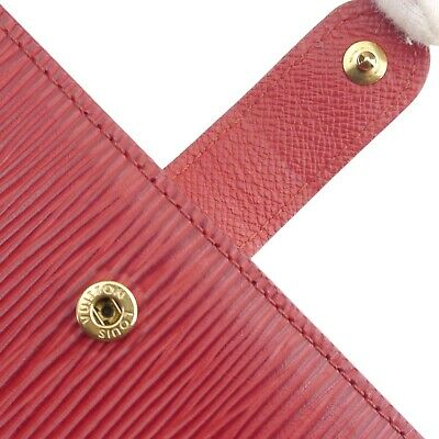Auth LOUIS VUITTON Epi Agenda PM Day Planner Cover Red Leather R2005E #f41439 6