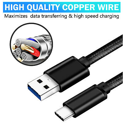 USB-C 3.1 Type-C Data FAST Charging Cable FOR Samsung S10 S9 S8 NOTE 10 PLUS P30 4