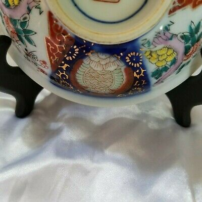 Small Antique Imari Arita Japanese Meiji/Hizen Period Marked Footed  Bowl 5