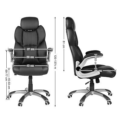 Office Chair Swivel Ergonomic Chair Foldable Armrests Computer Chair OBG65BK 11