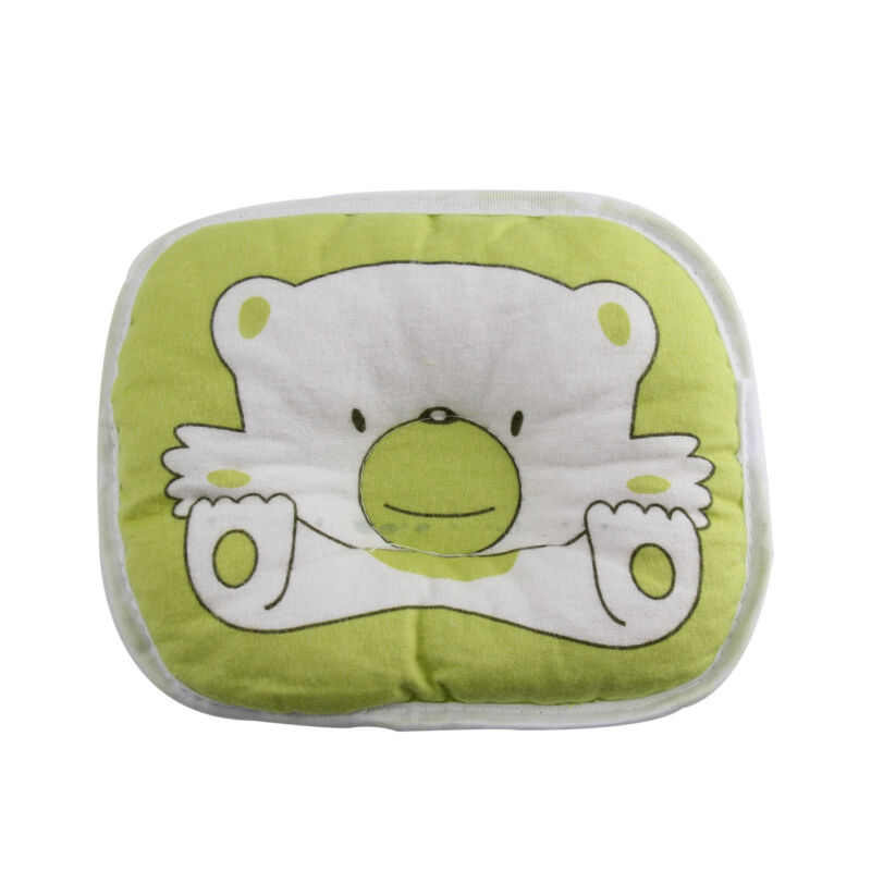 PINK Bear Printed Pillow Newborn Infant Baby Support Cushion Pad Prevent Flat 7