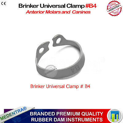 Rubber Dam Clamp Holding Tray Brinker B4 for Upper Molar Jaw Incisors/Canines CE 2