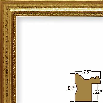 CRAIG FRAMES 314GD Ornate Gold, .75 Inch Wide Solid Wood Picture ...