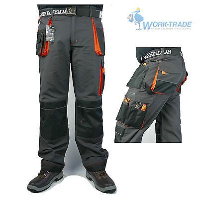 Arbeitshose Bundhose Herren Hose Multifunktion grau schwarz orange Gr.46-62