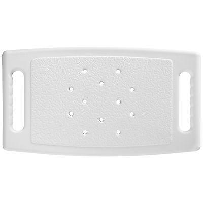 Taburete de Ducha Rectangular Aluminio Plástico Blanco para Baño Ducha Ajustable 4