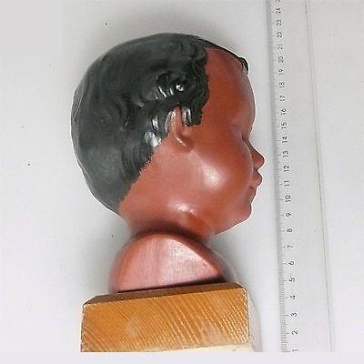 Alte Jungmädchen Büste 1960 gemarkt Terracotta ca.18 x 10 cm 6