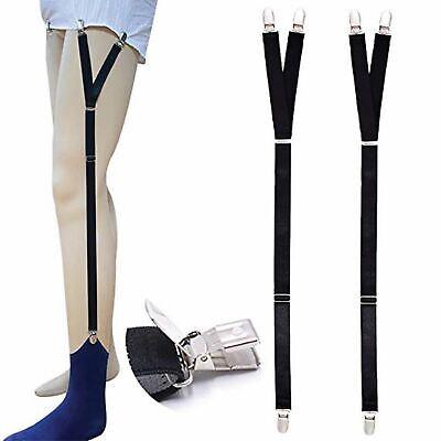 1 Pair of Y Style Shirt Stay Mens Garter Suspenders Military Uniform Holder Sock 10