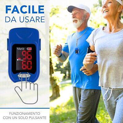 Misuratore di ossigeno professionale portatile da dito Pulsossimetro Saturimetro 6