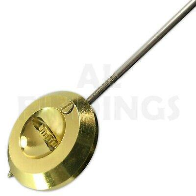 32mm French clock pendulum bob brass with steel rod regulating nut clockmakers 5