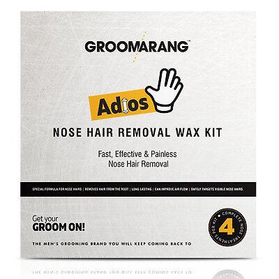Groomarang Adios Nez Oreille Épilation Cire Kit Indolore & Facile Homme Nasal 7