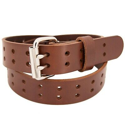 Men's Double Prong Full Grain Heavy-Duty Leather Belt 2 Hole - USA Made By Amish 3