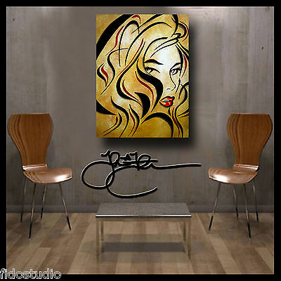 Original Abstract print Modern Woman Decor HUGE Canvas Wall Art by Fidostudio 2