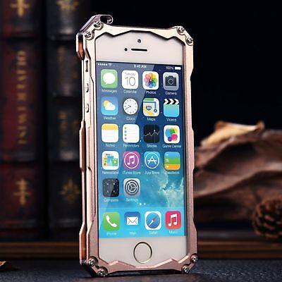 For iPhone 5s SE 6s 7 Plus Luxury Shockproof Aluminum Metal Slim Hard Cover Case 11