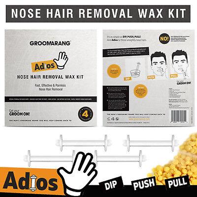Groomarang Adios Nez Oreille Épilation Cire Kit Indolore & Facile Homme Nasal 9