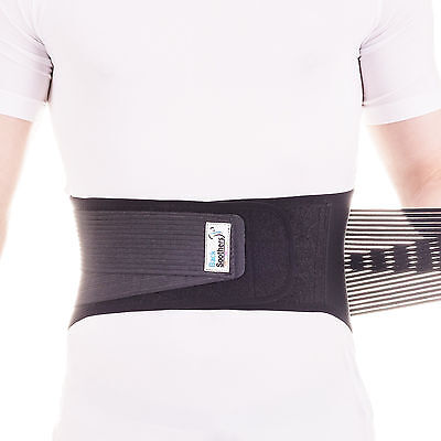 BackSoothers® BackFlex Adjustable Lower Back Support Neoprene Double Pull Lumbar