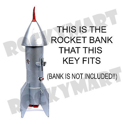 Replica REPLACEMENT KEY for the Astro MFG Rocket Coin Bank USA Stainless Berzac