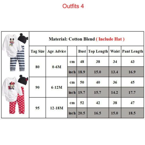 Kids Baby Girls Boys Mickey Minnie Mouse Hoodie Sweatshirt T-Shirt Tops Outfits 7