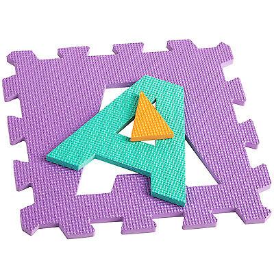 Manta de juegos alfabeto puzzle alfombra rompecabezas 86 piezas goma espuma EVA. 8