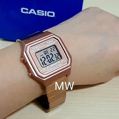 New Casio Vintage Rose Gold Digital Stainless Steel Watch B650WC-5A B650WC-5A 7