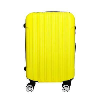 Trolley Rigido Da Viaggio Bagaglio a Mano Giallo Voli Ryanair EasyJet 55x35x20cm 2