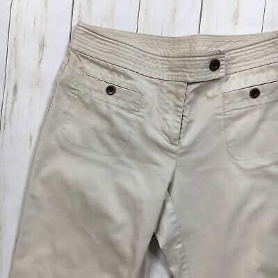 Talbots Womens Size 4 Beige Croped Capri Pants 2