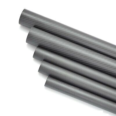 3K Carbon Fiber Tube 5mm 6mm 7mm 8 9mm 10mm x 1000mm Bearing Rod Kite Wrapped-H 2