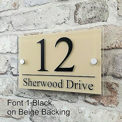 Contemporary House Sign Address Plaques Door Number Name Plates Personalised 10