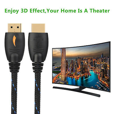 Extra Long 50FT Super High Speed HDMI Cable 1.4//2.0v Ethernet 3D 2160P HDTV xBox