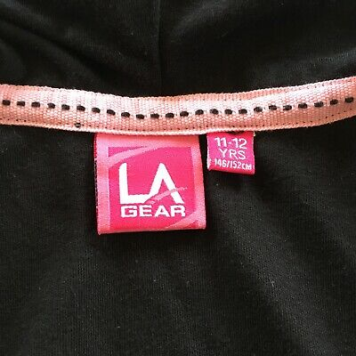 Girls LA Gear  Black Hooded Top. Size 11-12 Years 5