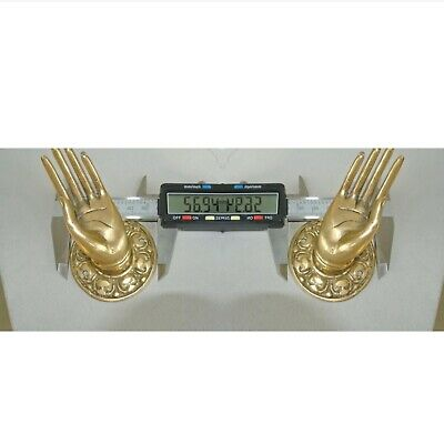 "2 Polished handle hand 100% brass door old style knob hook 2.1/4 ""buddha 3"