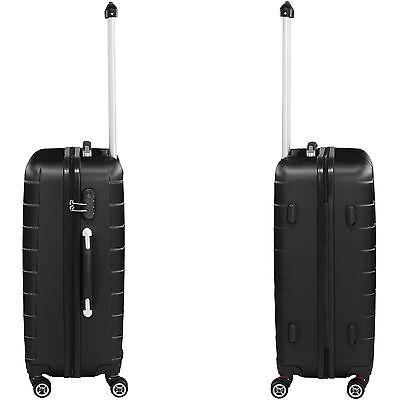 Set 3 piezas maletas ABS juego de maletas de viaje trolley maleta dura negro 5
