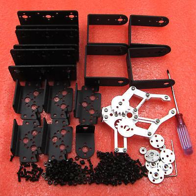 ROT3U 6DOF Aluminium Robot Arm Mechanical Robotic Clamp Claw for Arduino-Black 4