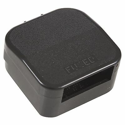 Negro Eu 3 Amp Adaptador de Enchufe Casa Viaje Europeo a Británico Conversor 2