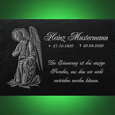 Grabstein Nachruf Gedenkstein Jagd 01► Gravur mit Inschrift + Motiv◄ 30 x 20 cm 9