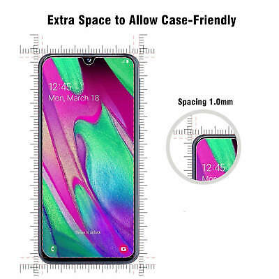 Samsung Galaxy A40 A50 Clear Gel Case Tempered Glass Screen Protector TPU Cover 8