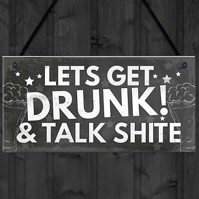 Funny Bar Sign Garden Signs Home Bar Sign Alcohol Gift Man Cave Shed