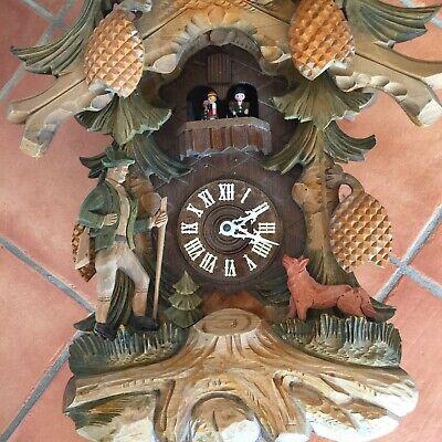 Anton Schneider Soehne Hunter Fox Large Black Forest Rare cuckoo clock 10