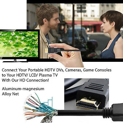 MINI HDMI to HDMI Cable Cord 4K Adapter Camera HDTV Camcorder 3FT 6FT 10FT 15FT 7