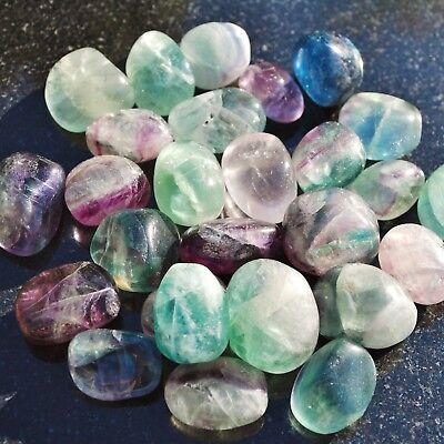 "Brazilian Rainbow Fluorite Crystal Perfect Pendant™ + 20"" Silver Chain WOW! 8"
