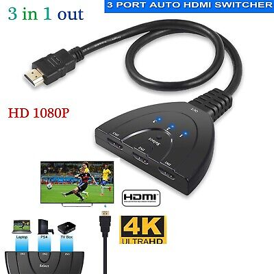 HDMI Splitter 3 Port HDMI Switch Switcher 3 in 1 Out 4K Hdmi Converter Adapter 2
