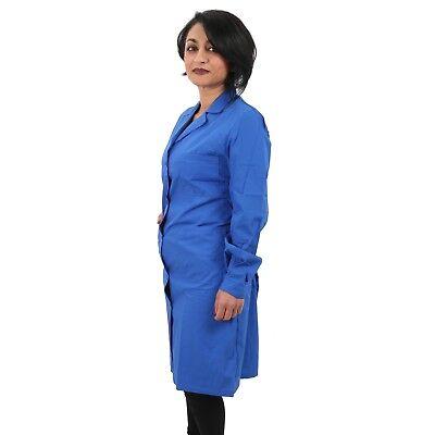 Camice Da Lavoro Donna Classico Lungo Leggero Blu  Royal Grembiule Magazzino 2