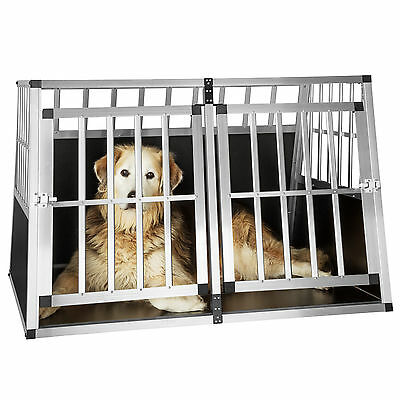 XXL Cage box caisse trapézoïdal de transport voyage pour chien mobile aluminium 3