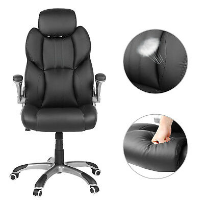 Office Chair Swivel Ergonomic Chair Foldable Armrests Computer Chair OBG65BK 6