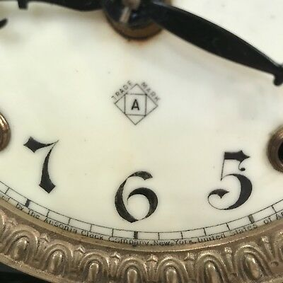 Antique Victorian black slate mantel clock - restoration project 7