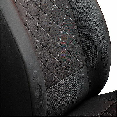 Schwarze 3D Sitzbezüge für MERCEDES B-KLASSE Autositzbezug VORNE NUR FAHRERSITZ
