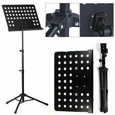 Heavy Duty Foldable Music Stand Holder Base Tripod Orchestral Conductor Sheet 2