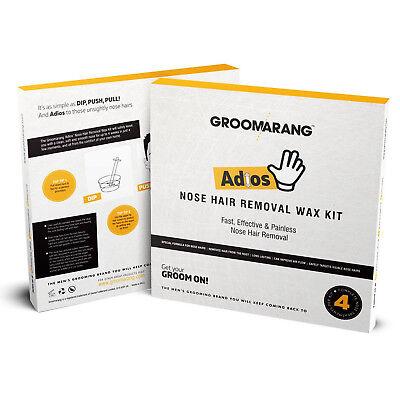 Groomarang Adios Nez Oreille Épilation Cire Kit Indolore & Facile Homme Nasal 8