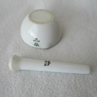 Rosenthal Labor-Porzellan Mörser DIN 181/63 und Pistill 182/24 Porzellanmörser