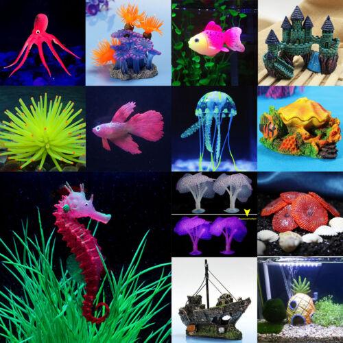 Corail artificiel plante aquatique d coration plastique for Poisson decoration aquarium